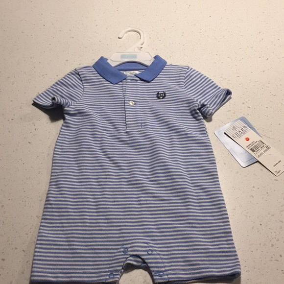 Chaps Other - Chaps rugby romper blue white 9m